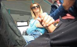 Handjob on the Bus !